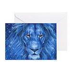 Winter Lion Greeting Card