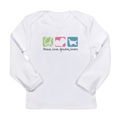 Peace, Love, Gordon Setters Long Sleeve Infant T-S