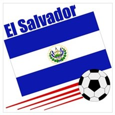 El Salvador Soccer Team Framed Print