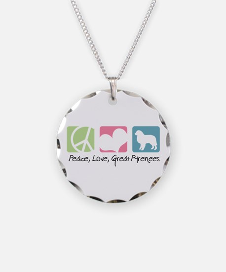 Peace, Love, Great Pyrenees Necklace