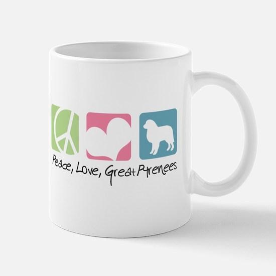 Peace, Love, Great Pyrenees Mug