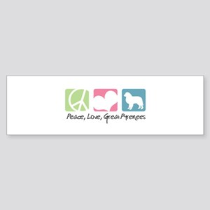 Peace, Love, Great Pyrenees Sticker (Bumper)