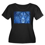 Winter Lion Women's Plus Size Scoop Neck Dark T-Sh