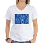 Winter Lion Women's V-Neck T-Shirt