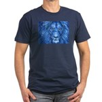 Winter Lion Men's Fitted T-Shirt (dark)