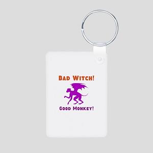Bad Witch Good Monkey Aluminum Photo Keychain