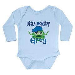 Little Monster Greg Long Sleeve Infant Bodysuit