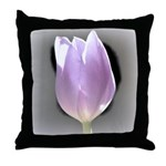 Pink Tulip Abstract Throw Pillow