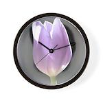 Pink Tulip Abstract Wall Clock