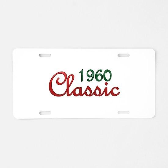Cute 1960 Aluminum License Plate