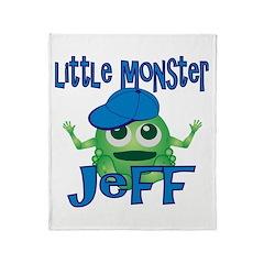 Little Monster Jeff Throw Blanket