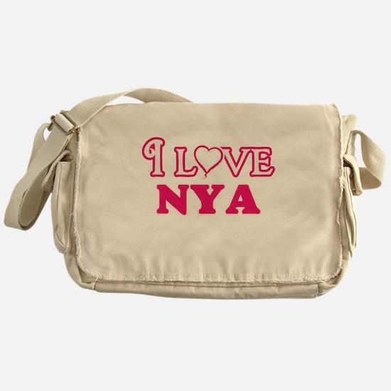 I Love Nya Messenger Bag