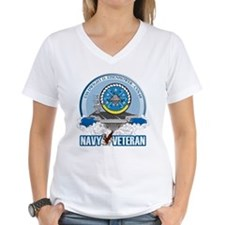 CVN-69 USS Eisenhower Women's V-Neck T-Shirt