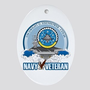 CVN-69 USS Eisenhower Ornament (Oval)