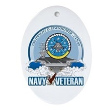 CVN-69 USS Eisenhower Ornament (Oval)