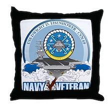 CVN-69 USS Eisenhower Throw Pillow