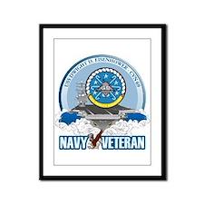 CVN-69 USS Eisenhower Framed Panel Print