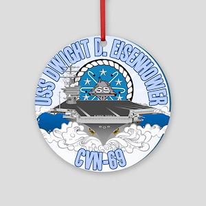 CVN-69 USS Eisenhower Ornament (Round)
