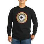 Brown Stockings Logo Long Sleeve Dark T-Shirt