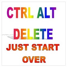 CTRL ALT DELETE JUST START OV Framed Print