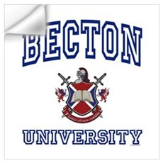 BECTON University Wall Decal