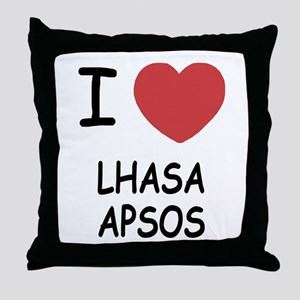 I heart lhasa apsos Throw Pillow