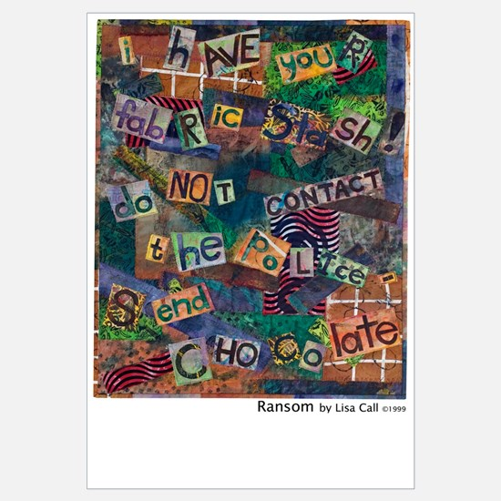 Ransom Note Art Quilt