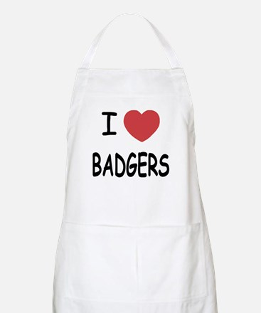 I heart badgers Apron