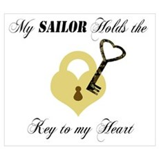 Sailor Key to my Heart Poster