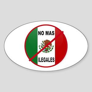DEPORT ILLEGAL ALIENS Sticker (Oval)