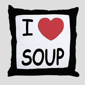 I heart soup Throw Pillow
