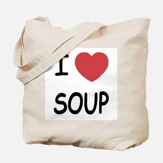 I heart soup Tote Bag