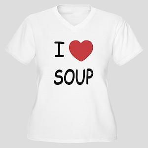 I heart soup Women's Plus Size V-Neck T-Shirt