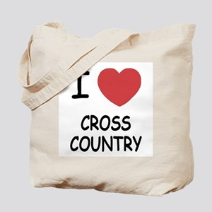 I heart cross country Tote Bag