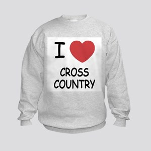 I heart cross country Kids Sweatshirt