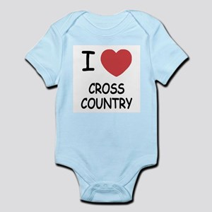 I heart cross country Infant Bodysuit