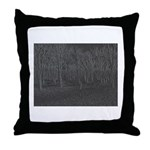 Walking in the Woods Throw Pillow