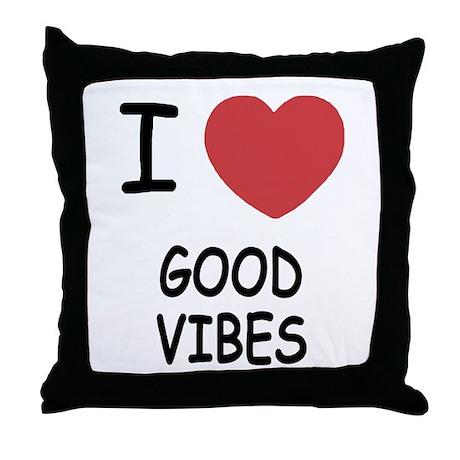 I heart good vibes Throw Pillow