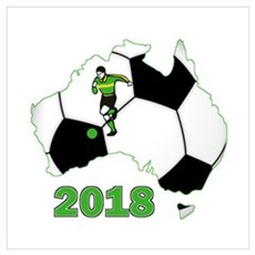 Football World Cup Australia 2018 Poster