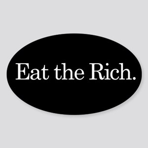 Eat the Rich, slogan, Sticker (Oval)