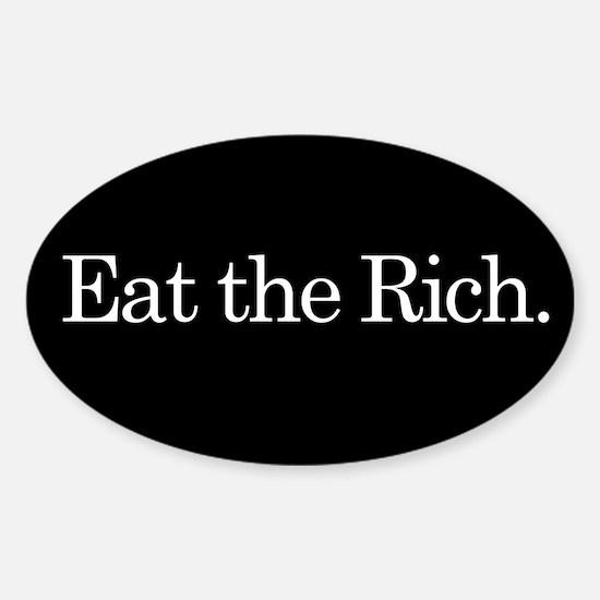 Eat the Rich, slogan, Sticker (Oval)