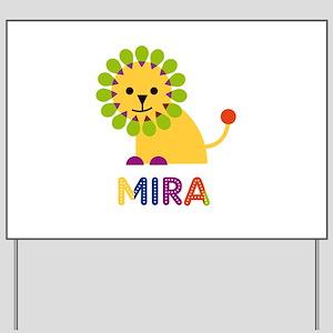 Mira the Lion Yard Sign