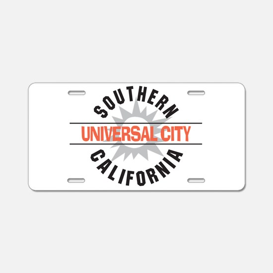 Universal City California Aluminum License Plate