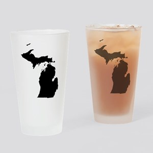 Michigan Map Drinking Glass
