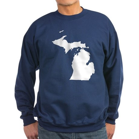 Michigan Map Sweatshirt (dark)