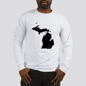 Michigan Map Long Sleeve T-Shirt