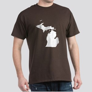 Michigan Map Dark T-Shirt