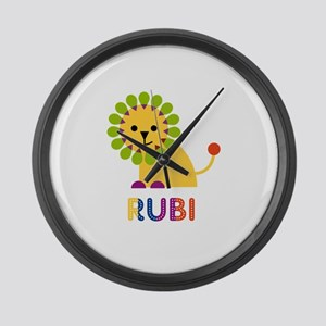 Rubi the Lion Large Wall Clock