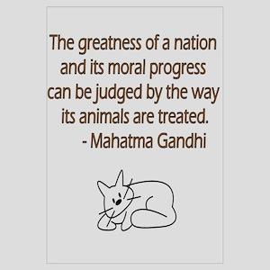 Gandhi Quote with Cat