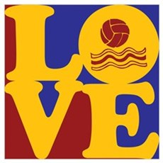 Water Polo Love Poster
